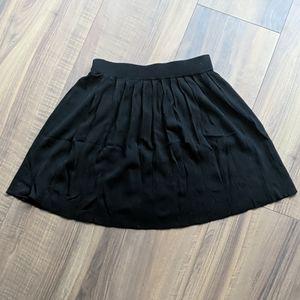 Black Knit Pleated Skirt